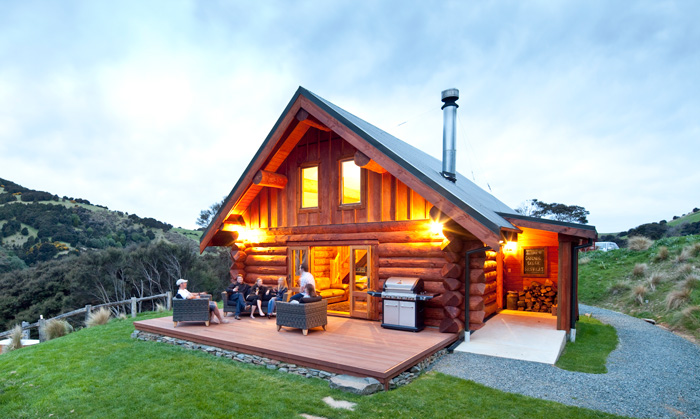 A Cascade Creek Retreat at dusk